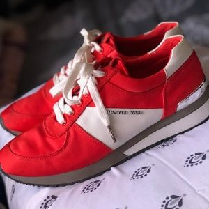 Michael Kors Allie Trainer Red Sneaker